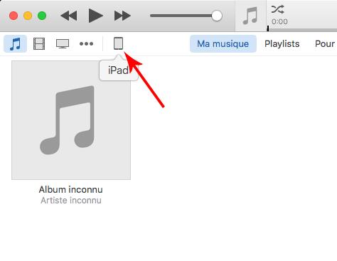 iTunes - Cliquez sur votre appareil